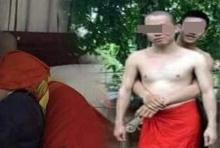หนุ่มสุดทน แฉภาพพระสงฆ์กอดรัดนัวเนียบนเตียงกับคู่ขาหนุ่ม