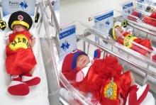 น่ารัก โรงพยาบาลดัง จับ หนูน้อย แรกเกิดแต่งเป็น-ตี๋-หมวย รับตรุษจีน