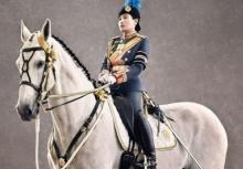 พันโทหญิงพระเจ้าหลานเธอพระองค์เจ้าสิริวัณณวรีนารีรัตน์ ฉายพระรูปกับม้าทรง เว-คาลาตา