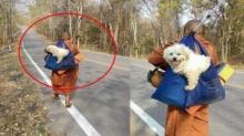 ชาวบ้านสงสัย พระธุดงค์ เดินริมทาง มีสุนัขอยู่ในย่าม ก่อนท่านเล่าชัดๆ แห่สาธุ!
