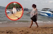 งดงาม!!สาวฝรั่งรักเมืองไทย เดินเก็บขยะทั่วหาดพัทยา!!