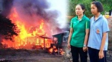 ไฟไหม้บ้านนักเรียนม.2 วอดทั้งหลัง! เหลือเพียงเสื้อผ้าคนละชุดวอนช่วยเหลือ